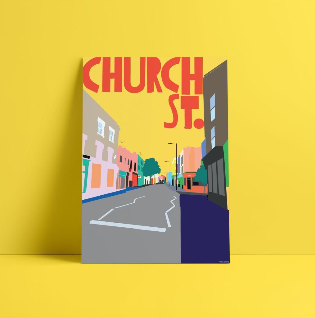 A3 Church St. Art Print Visual