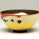 Susan Nemeth Bowl with orange DIAM18cm