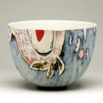 Susan Nemeth Bowl with slips DIAM 27cm