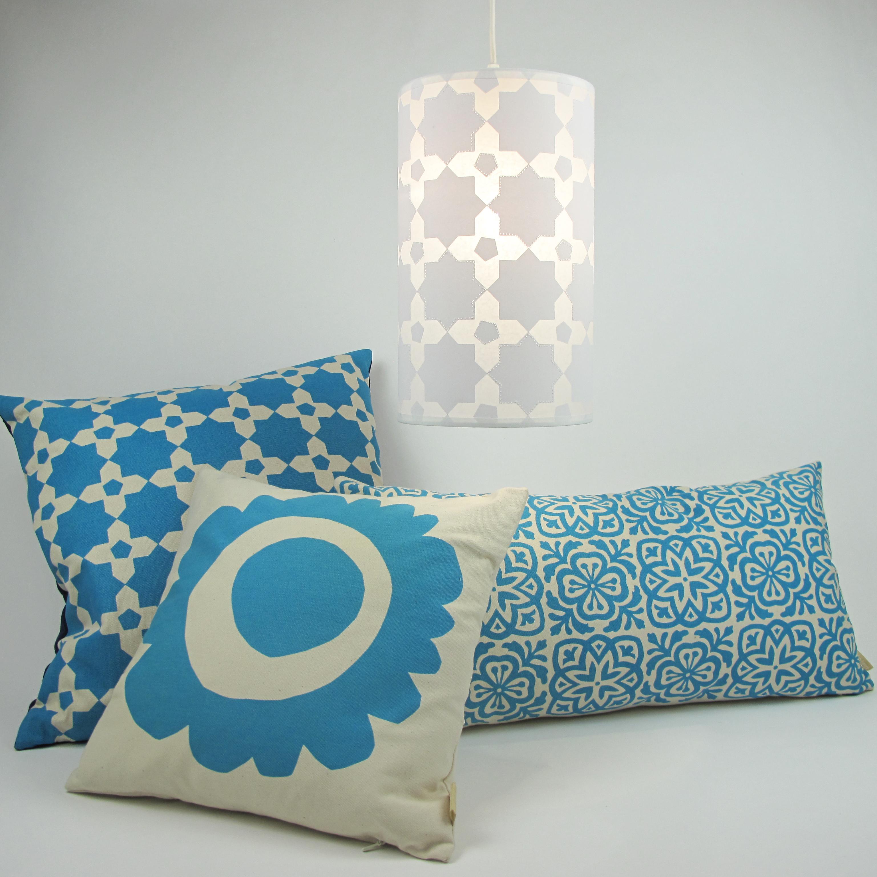 mosaic and cushions