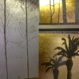 work in progress for project using original art to  convert into wall coverings